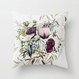 Rustic and Free Bouquet Throw Pillow