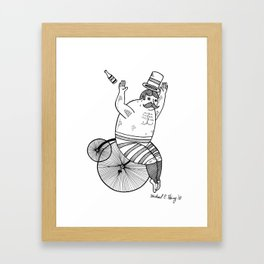 On wild and adventurous Penny-Farthling riders  Framed Art Print