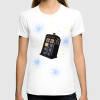 tardis T-shirts featuring TARDIS by Colunga-Art