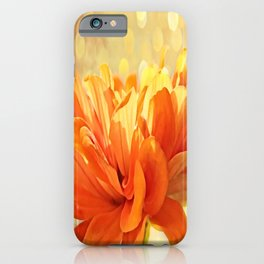 Glowing Marigold iPhone Case