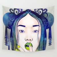 luna Wall Tapestries featuring Luna by Stevyn Llewellyn