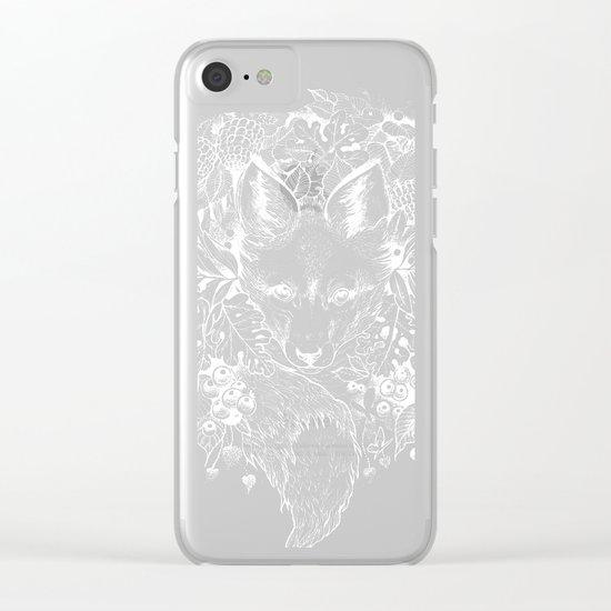 hidden fox Clear iPhone Case