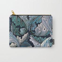Art Nouveau William Morris Blue Acanthus Leaves Carry-All Pouch
