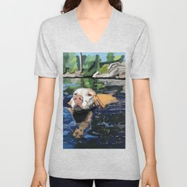 Water Dog Unisex V-Neck