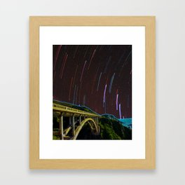 Bixby Creek Bridge Stars Framed Art Print