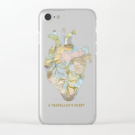 A Traveller's Heart (UK) Clear iPhone Case