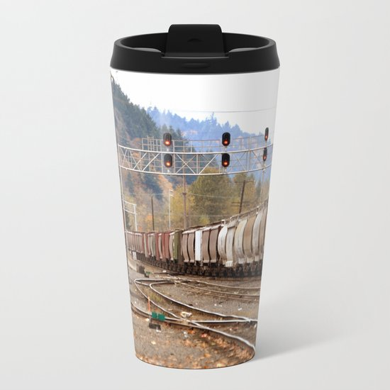 TRAIN YARD Metal Travel Mug