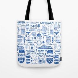 Fairhaven Massachusetts Print Tote Bag