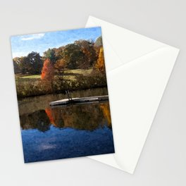 Fall Pond Stationery Cards