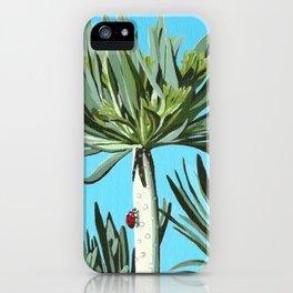 Ladybug on exotic plant iPhone Case