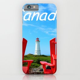 Chairs and Lighthouse, Canada iPhone Case
