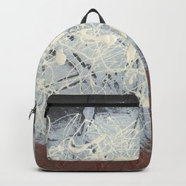 Cool Pollock Rothko Inspired Black White Red Abstract - Corbin Henry Modern Art Backpack