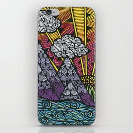 Zentangle - Elephant  iPhone Skin