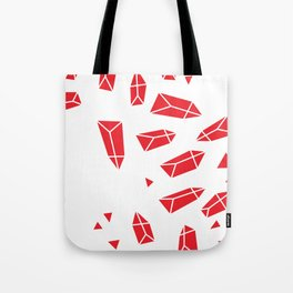 Red Crystals Tote Bag