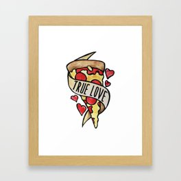 Pizza True Love Framed Art Print