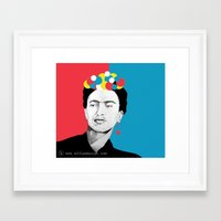 frida khalo Framed Art Prints featuring frida khalo by Effiedesign