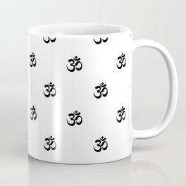 Black and White OM Pattern Coffee Mug