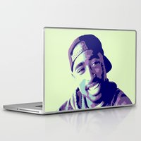 tupac Laptop & iPad Skins featuring Tupac by victorygarlic