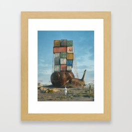 SNAIL MAIL (everyday 03.26.18) Framed Art Print