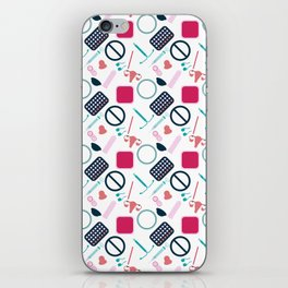 Contraception Pattern iPhone Skin