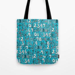math doodle blue Tote Bag