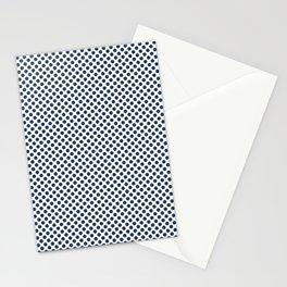 Navy Peony Polka Dots Stationery Cards