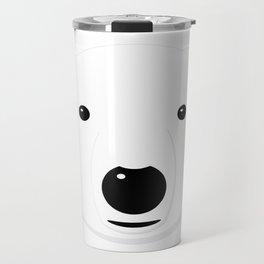 Cartoon Polar Bear Adult Travel Mug