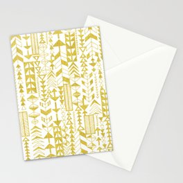Golden Doodle arrows Stationery Cards