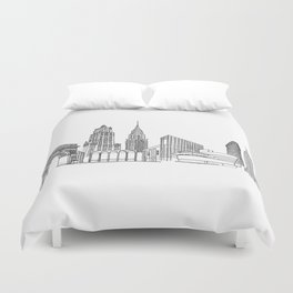 NYC Landmarks by the Downtown Doodler Duvet Cover