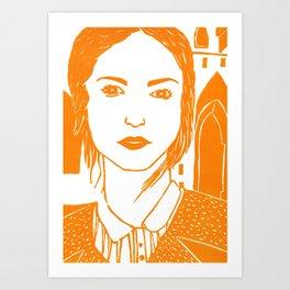 WUTHERING HEIGHTS - LINO (ORANGE VERSION)  Art Print