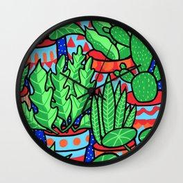 Plants more plants Wall Clock