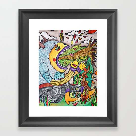 Become One With Nature Framed Art Print