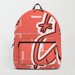 LIVING CORAL LIZARD ON THE WALL GRAPHIC ARTWORK Backpack