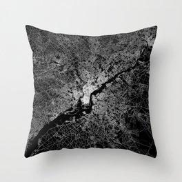 philadelphia map Throw Pillow
