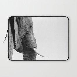 Black and white elephant portrait Laptop Sleeve