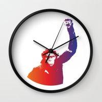 rebel Wall Clocks featuring Rebel by Kailash Gyawali