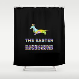 Dachshund gifts   Easter gifts   Easter decorations   Easter Bunny   Spring decor Shower Curtain