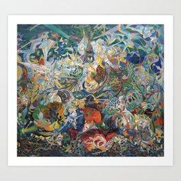 Battle of Lights, Coney Island, Mardi Gras by Joseph Stella Art Print