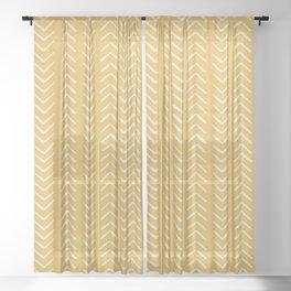Yellow Arrow Mudcloth  Sheer Curtain