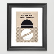 No454 My One Flew Over the Cuckoos Nest minimal movie poster Framed Art Print