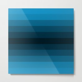 Blue Gradient Metal Print