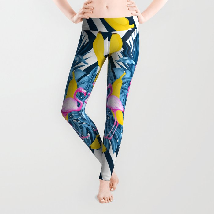 tropical banana fun  Leggings
