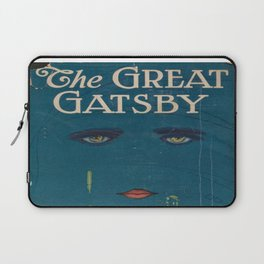 The Great Gatsby vintage book cover - Fitzgerald - muted tones Laptop Sleeve