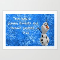 olaf Art Prints featuring Olaf by Maggie Jane Photography