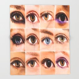 VARIETY OF THE EYES DUVET COVER Throw Blanket