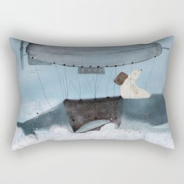 barney and the whale Rectangular Pillow