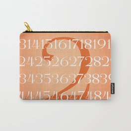 Elegant Numberset Carry-All Pouch