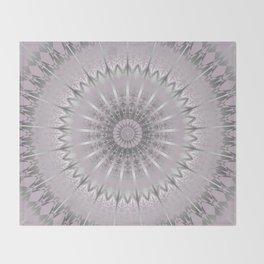 Mauve Silver Mandala Throw Blanket