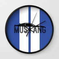 mustang Wall Clocks featuring Mustang by Salmanorguk