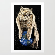 Floyd the lion Art Print